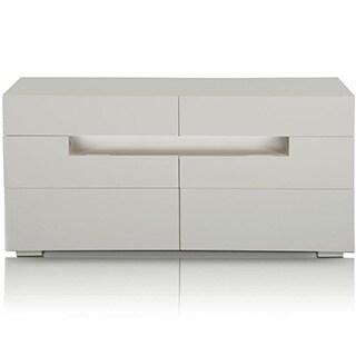 Modrest Ceres Modern LED White Lacquer Dresser