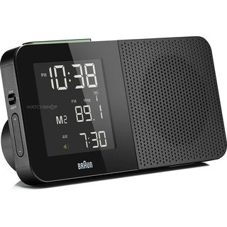 Braun Black Digital LCD Global FM/AM Radio Alarm Clock