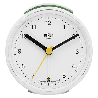 Braun Classic 3-inch White German Precision Quartz Round Alarm Clock