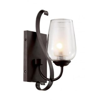 Cambridge 1-light Rubbed Oil Bronze 4.5-inch Wall Sconce with Frosted Glass