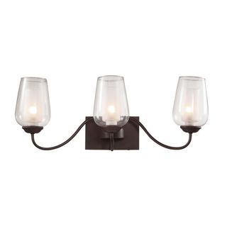 Cambridge 3-light Rubbed Oil Bronze 24-inch Wall Sconce with Frosted Glass