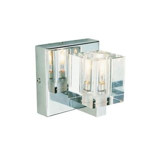 Cambridge 1-light Polished Chrome 5-inch Wall Sconce with Crystal Glass