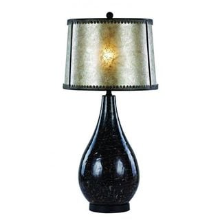 Cambridge 1-light Black Marble 35-inch Table Lamp with Silver Acrylic
