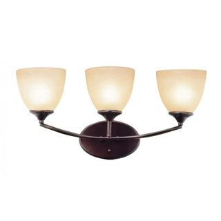 Cambridge 3-light Rubbed Oil Bronze 23-inch Wall Sconce with Tea Stain Glass