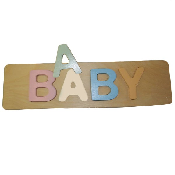 aBaby Baby Wooden Pastel Puzzle