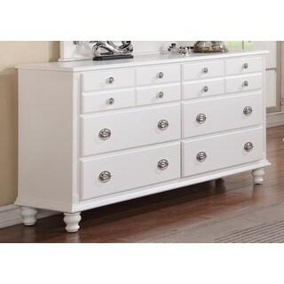 Militza French Dovetail White Finish Dresser