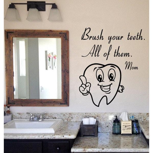 Brushing Teeth Quote Sticker Vinyl Wall Art