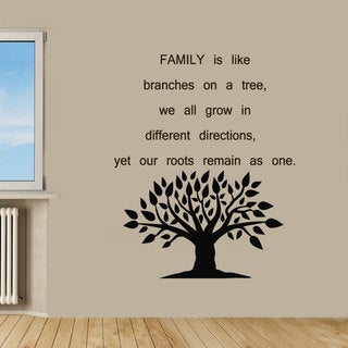 Family Tree Quote Sticker Vinyl Wall Art