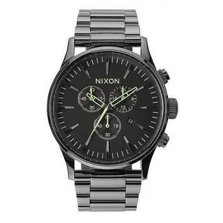 Nixon Men's A3861885-00 Sentry Quartz Stainless Steel Chrono Polished Gunmetal Watch