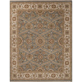 Hand-Knotted Oriental Pattern Blue/Ivory (4' x 6') AreaRug