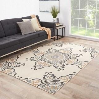 Indoor-Outdoor Oriental Pattern Brown/Grey (5'3 x 7'6) AreaRug