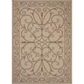 Indoor-Outdoor Oriental Pattern Brown/Brown (5'3 x 7'6) AreaRug