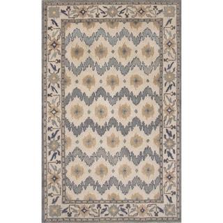 Hand-Tufted Oriental Pattern Blue/Brown (5' x 8') AreaRug