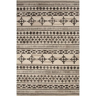 Hand-Tufted Argyle Pattern Brown/Ivory (8' x 10') AreaRug