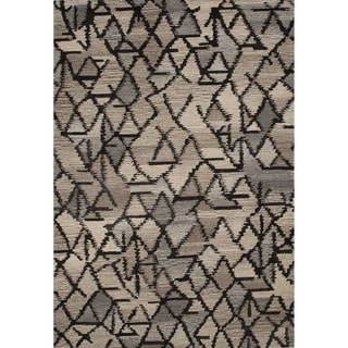 Hand-Tufted Geometric Pattern Grey/Ivory (8' x 10') AreaRug
