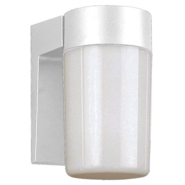 Cambridge White Finish Outdoor Wall Sconce with An Opal Shade