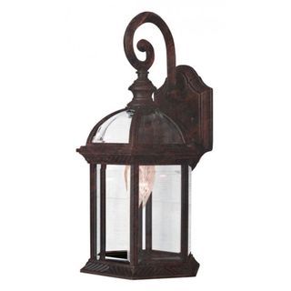 Cambridge Black Copper Finish Outdoor Wall Lantern with Beveled Shade