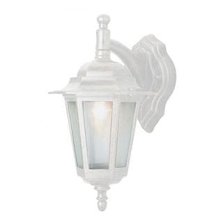 Cambridge White Finish Outdoor Wall Lantern with Frosted Shade