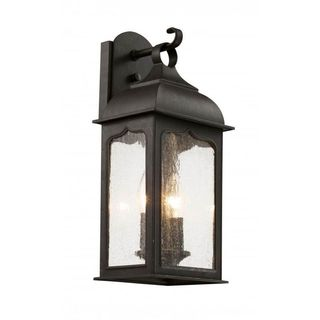 Cambridge Rubbed Oil Bronze Outdoor Wall Sconce with Seeded Shade