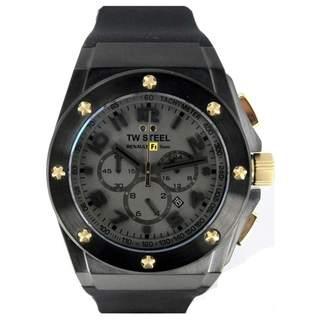 TW Steel Men's TW682 'Lotus Renault' Chronograph Black Rubber Watch