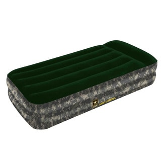 Bestway US Army Raised Twin Air Bed with AC Pump