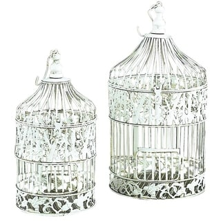 Metal Silver Decorative Bird Cage