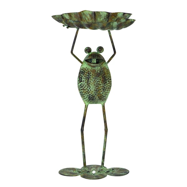 Metal Frog Bird Feeder