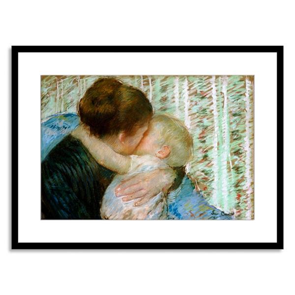 Mary Cassatt 'A Goodnight Hug' Framed Paper Art