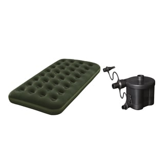 Bestway Flocked Air Bed with Battery Pump