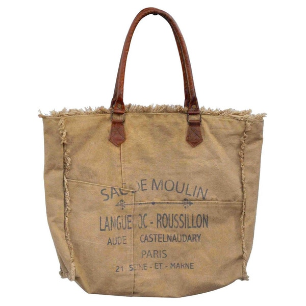 Coco Weathered Canvas Nautical Carryall Bag