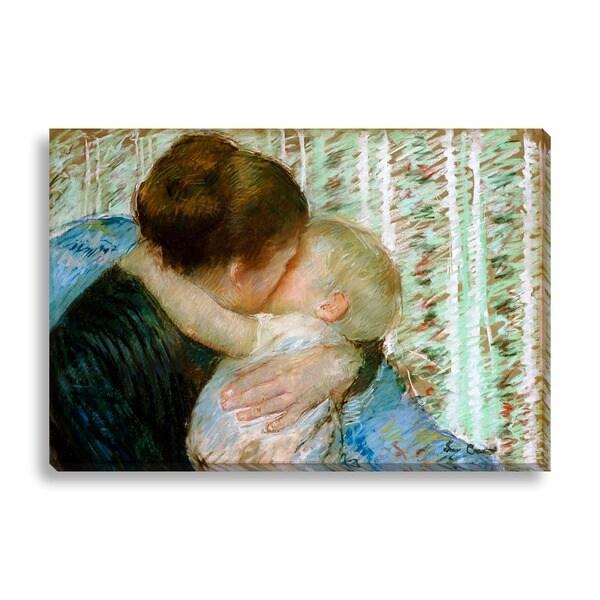 Mary Cassatt 'A Goodnight Hug' Canvas Art