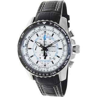 Seiko Men's SNAF01P1 Stainless Steel Alarm Chronograph Watch