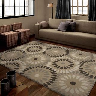 "Poise Collection Windmill Grey Area Rug (7'10"" x 10'10"")"