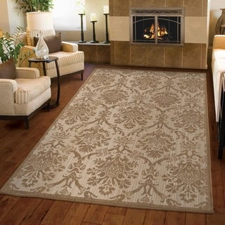 "Versailles Collection Outland Beige Area Rug (7'10"" x 10'10"")"