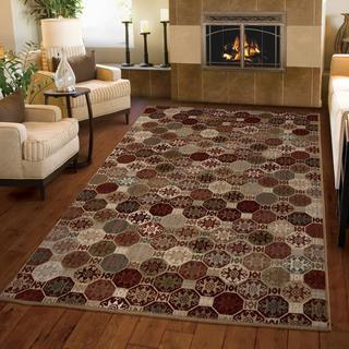 "Versailles Collection Ornament Multi Area Rug (7'10"" x 10'10"")"