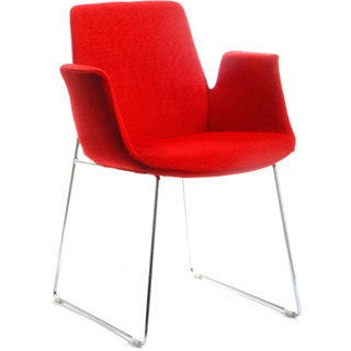 Modrest Altair Modern Red Fabric Dining Chair
