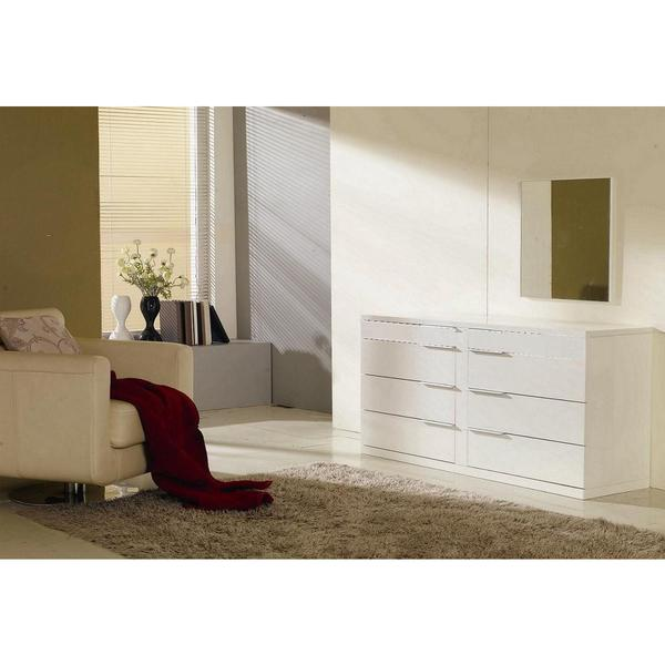 Modrest Aron Modern White Double Bedroom Dresser