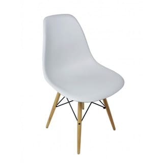 Light Gray Eiffel Style Plastic Dining Shell Chair