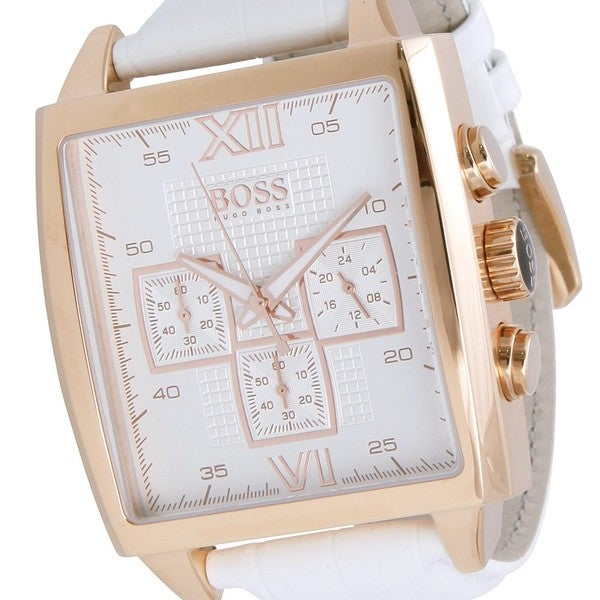 Hugo Boss Men's 1502221 'Classic' Chronograph White Leather Watch
