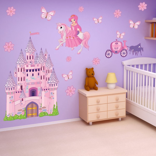 princess castle theme vinyl wall decal set 17175063