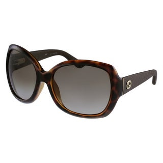 Gucci Women's 3715/S Plastic Rectangular Sunglasses