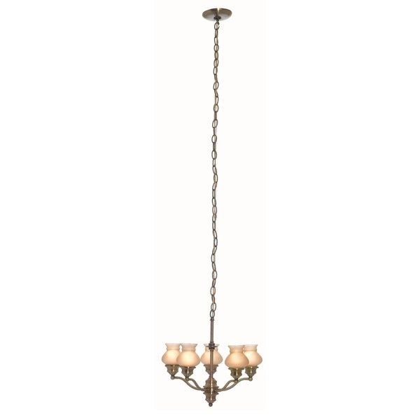 Lite Source Susie 5-light Ceiling Lamp, Amber