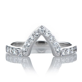Sterling SilverMarquise Cut Cubic Zirconia Engagement Ring Guard