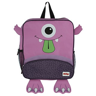 Nuby Purple Monster Backpack with Insulated Lunch Bag