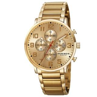 Akribos XXIV Men's Japanese Quartz Chronograph Stainless Steel Bracelet Watch