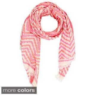 Saachi Women's Zigzag Cotton Scarf (India)