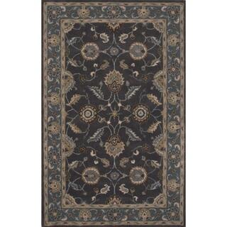 Hand-tufted Oriental Pattern Blue/ Blue Rug (2' x 3')
