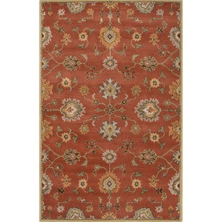 Hand-Tufted Oriental Pattern Orange/ Orange Area Rug (9' x 12')
