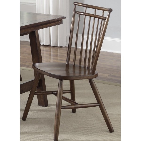 Creations Tobacco Lifestyle Spindle Back Side Chair