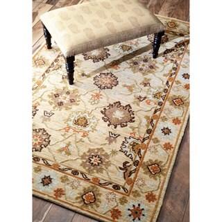 nuLOOM Modern Oriental Floral Tan Rug (8'6 x 11'6)